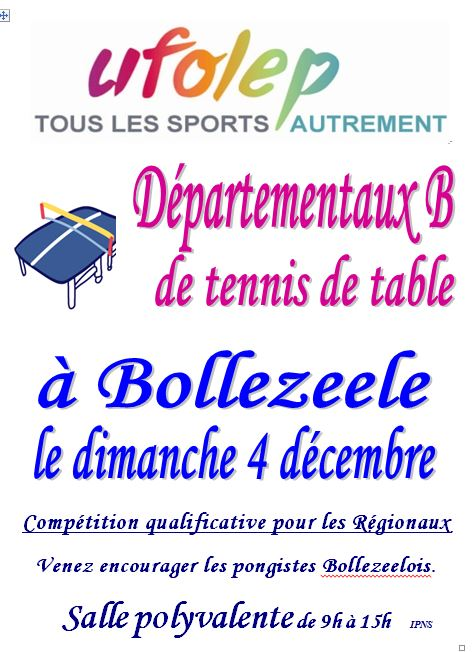 Tennis de Table Régionaux