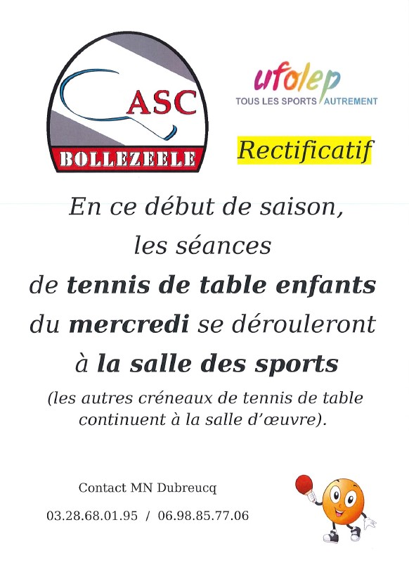 Tennis de table enfants